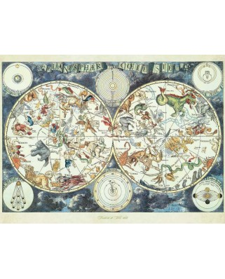 Puzzle Ravensburger - Fantastic Beasts World Map, 1500 piese (16003)