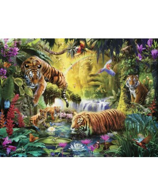 Puzzle Ravensburger - Idyll at the Water Hole, 1500 piese (16005)