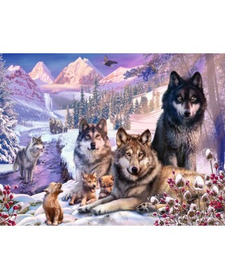 Puzzle Ravensburger - Wolves in the Snow, 2000 piese (16012)