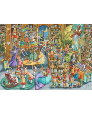 Puzzle Ravensburger - A Night at the Library, 1.000 piese (16455)