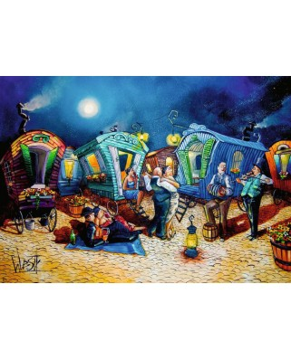 Puzzle Ravensburger - Beautiful End of Evening, 1.000 piese (16458)