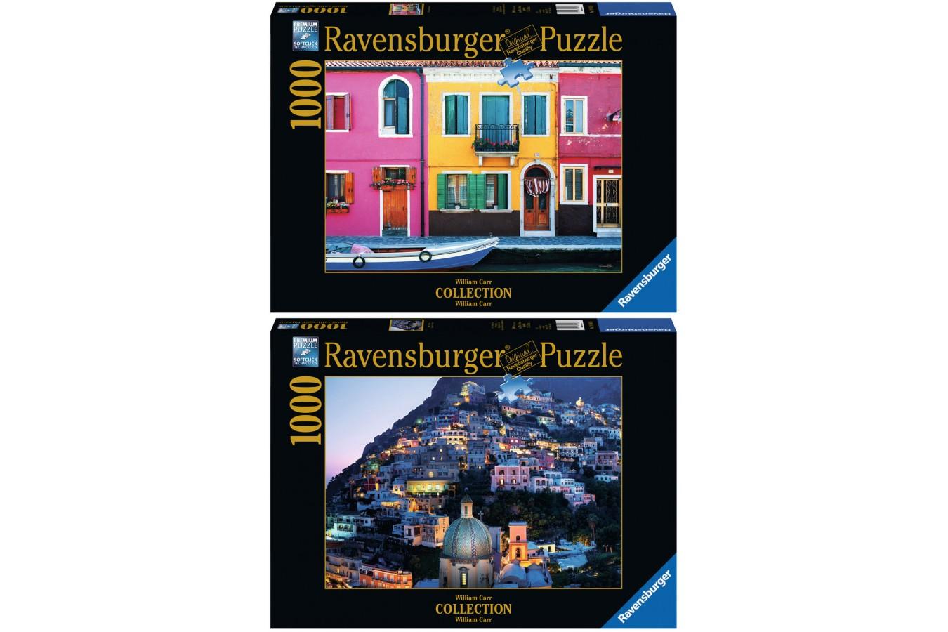 Pachet Promo Ravensburger Burano + Positano, 2x1.000 piese