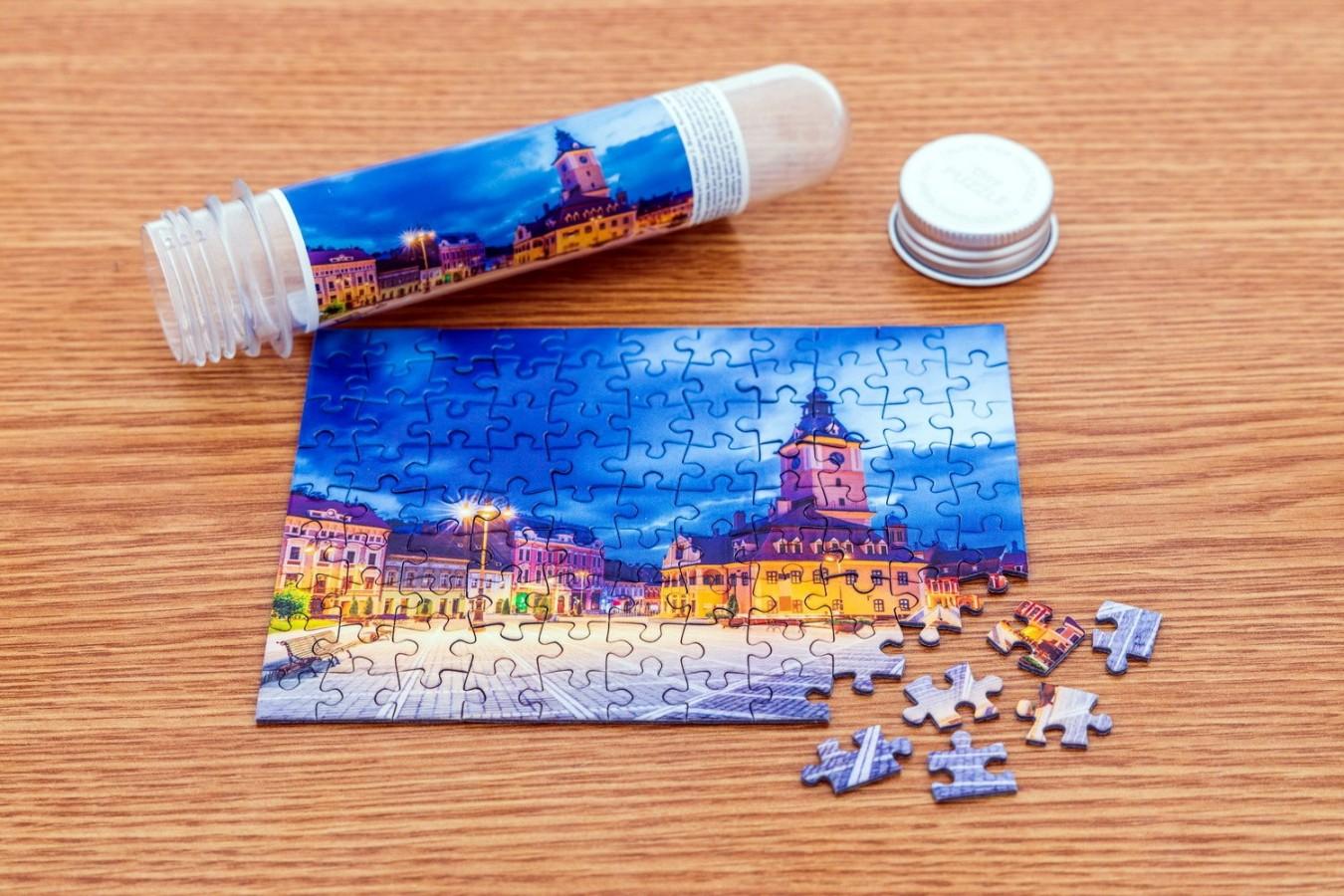 Puzzle TinyPuzzle - Piata Sfatului, Brasov, 99 piese (1002)