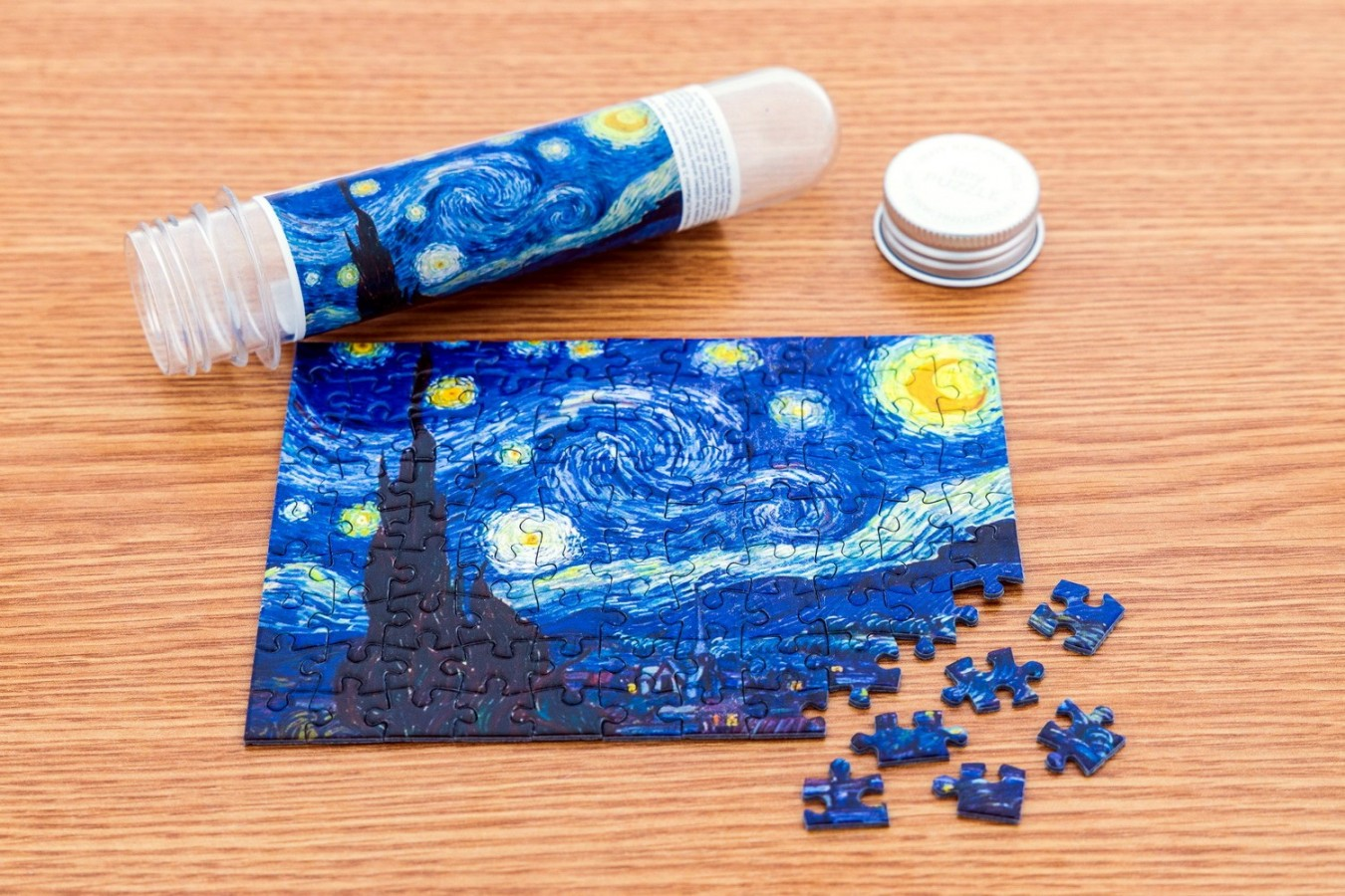 Puzzle TinyPuzzle - Vincent Van Gogh: Starry Night, 99 piese (1005)