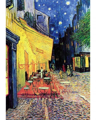 Puzzle TinyPuzzle - Vincent Van Gogh: Cafe Terrace at Night, 99 piese (1014)