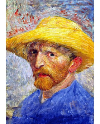 Puzzle TinyPuzzle - Vincent Van Gogh: Self Portrait with Straw Hat, 99 piese (1015)
