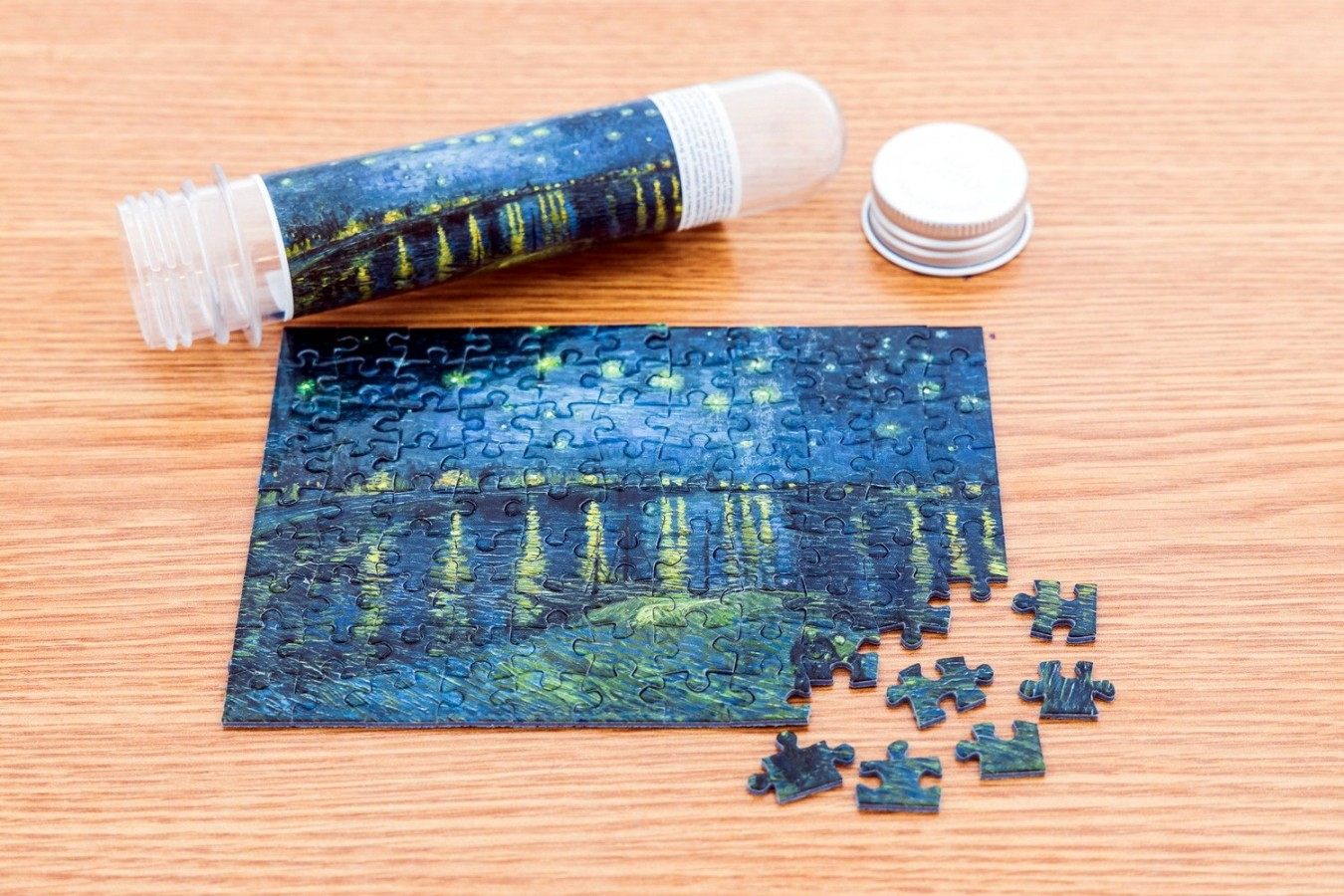 Puzzle TinyPuzzle - Vincent Van Gogh: Starry Night over the Rhone, 99 piese (1016)