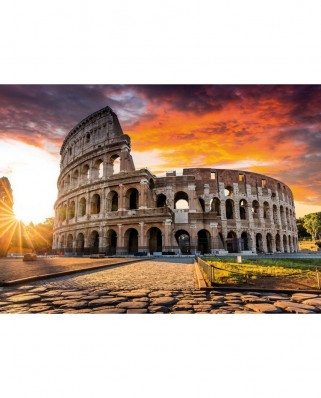 Puzzle TinyPuzzle - Colosseum at Sunrise, Rome, 99 piese (1022)