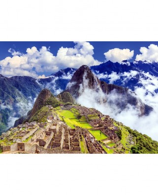 Puzzle TinyPuzzle - Machu Picchu with Clouds, Peru, 99 piese (1026)