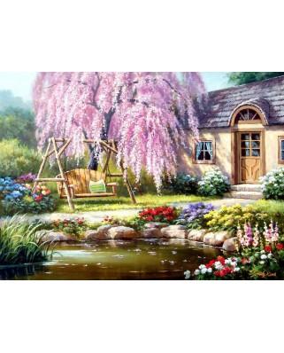 Puzzle Anatolian - Sung Kim: Cherry Blossom Cottage, 1.000 piese (1089)