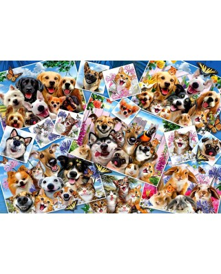 Puzzle Anatolian - Howard Robinson: Selfie Pet Collage, 2.000 piese (3947)