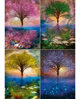 Puzzle Schmidt - Magical Tree At The Lake, 1.000 piese (58392)