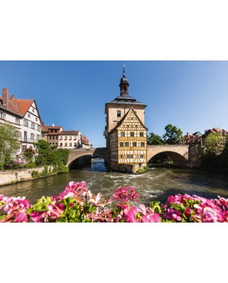 Puzzle Schmidt - Bamberg, Regnitz And Old Town Hall, 1.000 piese (58397)