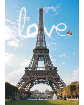Puzzle Gold Puzzle - Love at Paris, 1000 piese (Gold-Puzzle-60089)