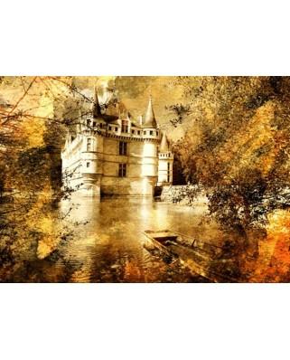Puzzle Gold Puzzle - Azay le Rideau Castle, 500 piese (Gold-Puzzle-60188)