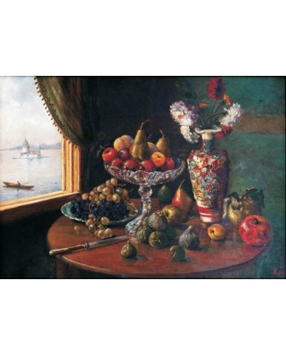 Puzzle Gold Puzzle - Mufide Kadri: Still Life, 1.000 piese (Gold-Puzzle-60287)