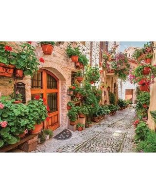 Puzzle Gold Puzzle - A Street in Italy, 1.000 piese (Gold-Puzzle-61574)