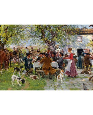 Puzzle Gold Puzzle - The Hunting Breakfast, 1.000 piese (Gold-Puzzle-60430)