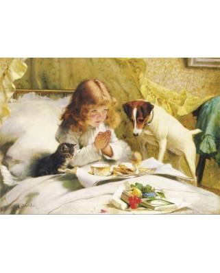 Puzzle Gold Puzzle - Charles Burton Barber: Suspense, 500 piese (Gold-Puzzle-60706)