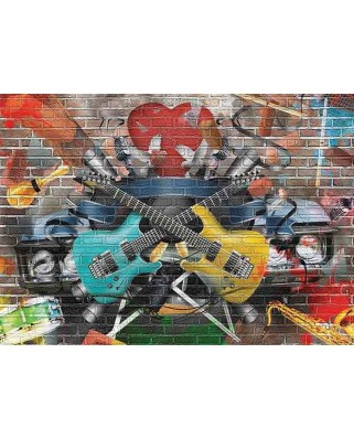 Puzzle Gold Puzzle - Musical Graffiti, 1500 piese (Gold-Puzzle-61437)