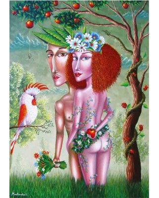 Puzzle Gold Puzzle - Adam and Eve, 1.000 piese (61369)