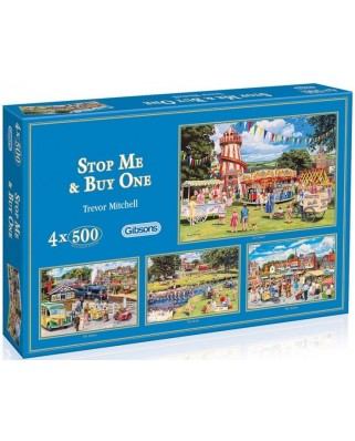 Puzzle Gibsons - Stop Me and Buy One, 4x500 piese (12259)