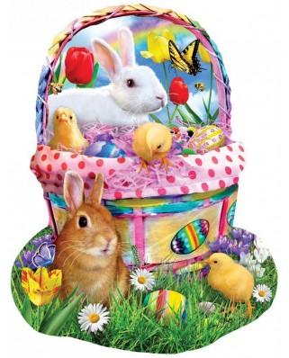 Puzzle contur SunsOut - Lori Schory: Bunny's Easter Basket, 1000 piese (Sunsout-97124)