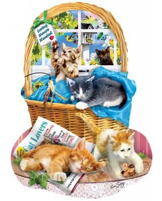 Puzzle contur SunsOut - Lori Schory: Free Kitties, 1000 piese (Sunsout-97058)