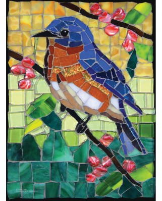 Puzzle SunsOut - Cynthie Fisher: Stained Glass Bluebird, 1000 piese (Sunsout-70716)