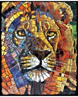 Puzzle SunsOut - Cynthie Fisher: Stained Glass Lion, 1000 piese (Sunsout-70720)