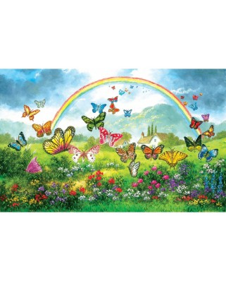 Puzzle SunsOut - Dennis Lewan: Butterfly Holiday, 550 piese (Sunsout-48317)