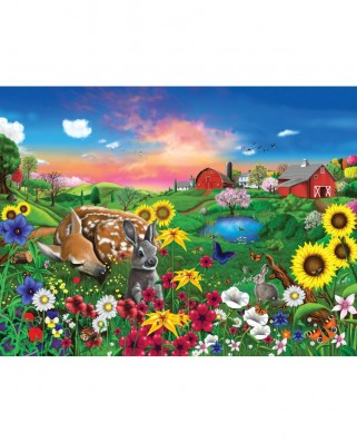 Puzzle SunsOut - Gerald Newton: Peaceful Pastures, 300 piese XXL (Sunsout-60940)