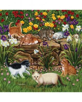 Puzzle SunsOut - Higgins Bond: Wall Flowers, 500 piese (Sunsout-45851)