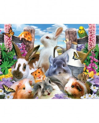 Puzzle SunsOut - Howard Robinson: Backyard Friends, 300 piese XXL (Sunsout-54928)