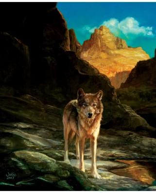 Puzzle SunsOut - Julie Bell: Lone Wolf, 1.000 piese (Sunsout-43031)