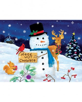 Puzzle SunsOut - Kathy Kehoe Bambeck: Need Hot Chocolate, 300 piese XXL (Sunsout-32716)
