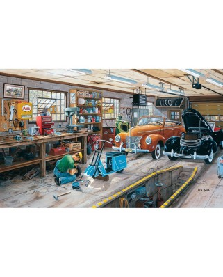 Puzzle SunsOut - Ken Zylla: Ford and a Cord, 300 piese XXL (Sunsout-39524)