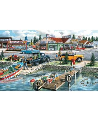 Puzzle SunsOut - Ken Zylla: Pelican Lake, 300 piese XXL (Sunsout-39515)