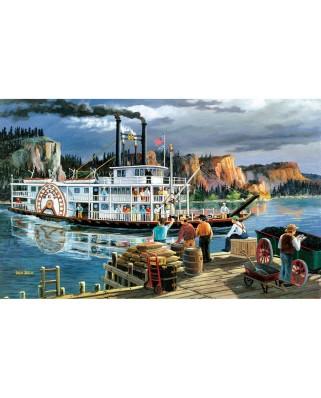 Puzzle SunsOut - Ken Zylla: Riverboat, 300 piese XXL (Sunsout-39521)