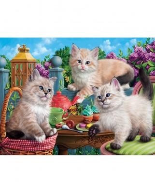 Puzzle SunsOut - Kitten Tea Party, 500 piese (Sunsout-42909)