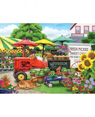 Puzzle SunsOut - Nancy Wernersbach: Farm Stand Bounty, 300 piese XXL (Sunsout-63016)