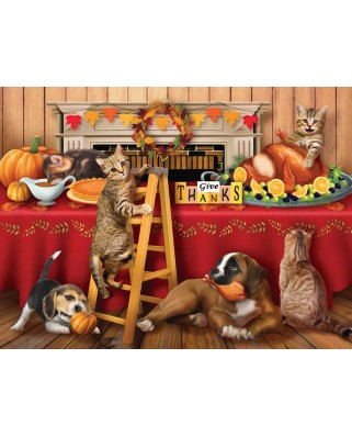 Puzzle SunsOut - Tom Wood: Give Thanks, 300 piese XXL (Sunsout-29722)