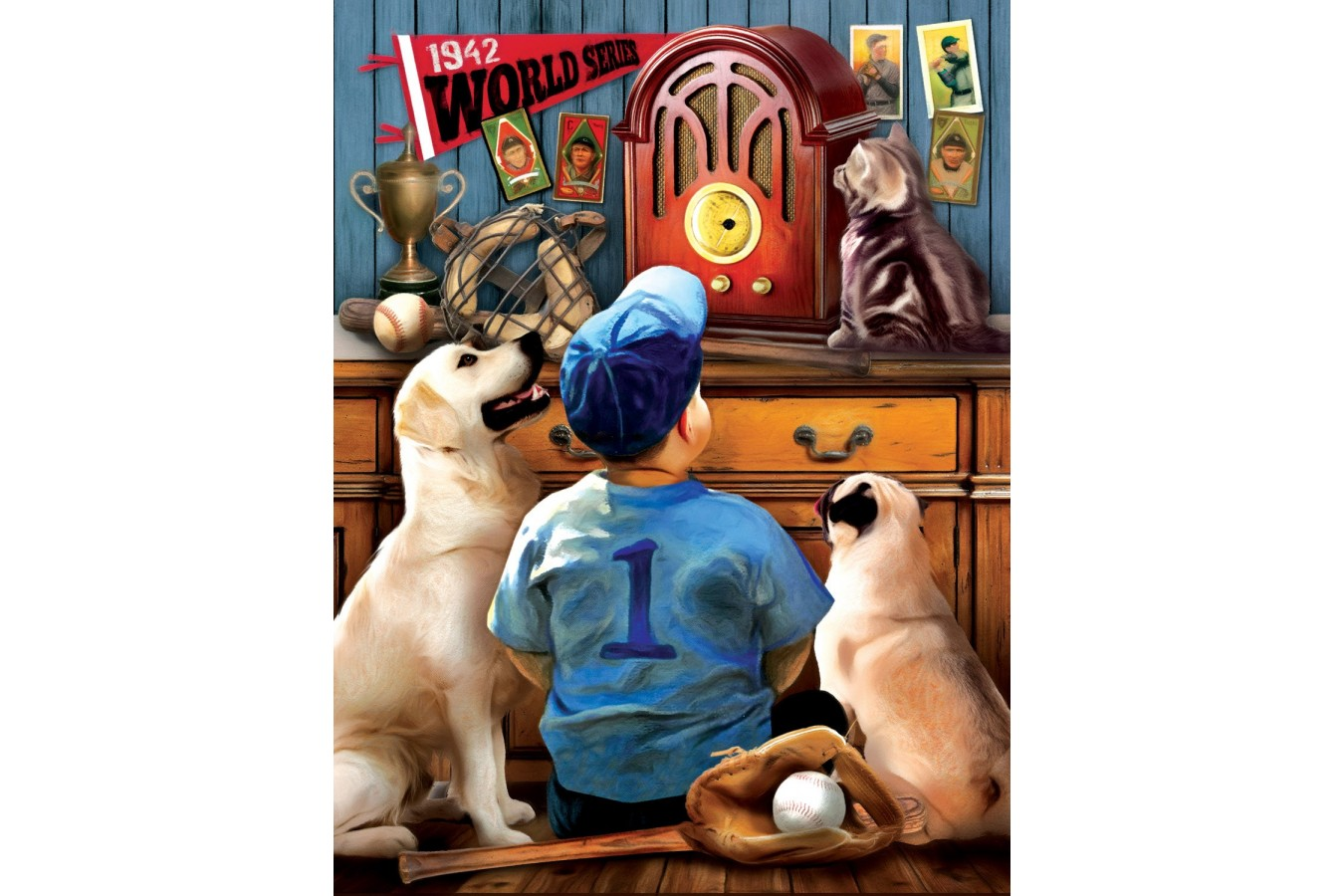 Puzzle SunsOut - Tom Wood: Listening to the Game, 300 piese XXL (Sunsout-28853)