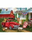 Puzzle SunsOut - Tom Wood: Stopping at the Farm, 500 piese (Sunsout-28868)