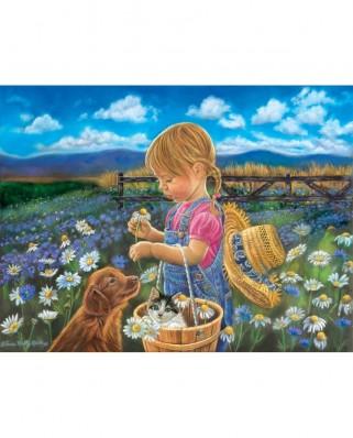 Puzzle SunsOut - Tricia Reilly-Matthews: Country Girl, 300 piese XXL (Sunsout-35924)