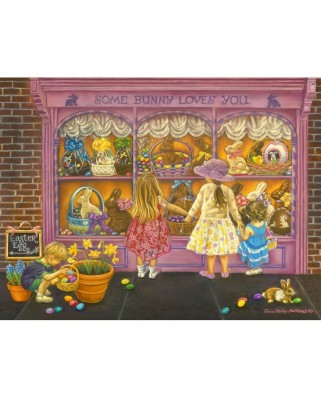 Puzzle SunsOut - Tricia Reilly-Matthews: Some Bunny Loves You, 300 piese XXL (Sunsout-35926)