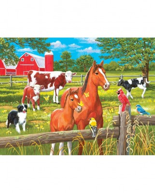 Puzzle SunsOut - William Vanderdasson: Spring Pasture, 300 piese XXL (Sunsout-30450)