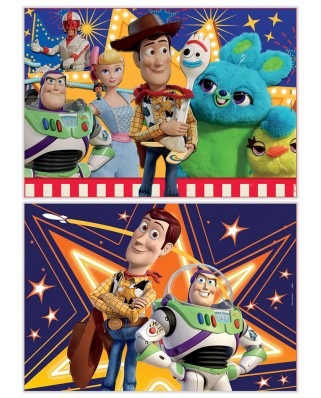 Puzzle din lemn Educa - Toy Story 4, 2x25 piese (18083)