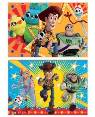 Puzzle din lemn Educa - Toy Story 4, 2x50 piese (18084)