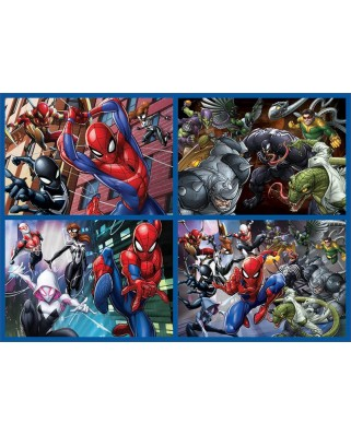Puzzle Educa - Multi 4 Puzzles Ultimate Spider-Man, 50/80/100/150 piese (18102)
